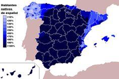 Native Spanish speakers all across Spain