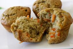 healthy veggie muffins! a lot of sugar though