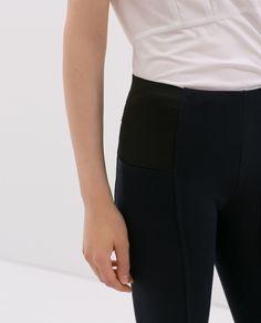Image 6 of HIGH WAISTED LEGGINGS from Zara