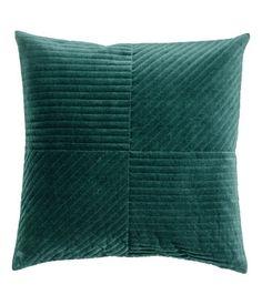 Quiltet putetrekk i fløyel | Mørk grønn | Home | H&M NO