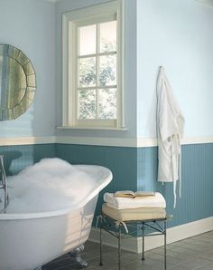 Earth Tones and the Other Colors Best to Paint Bathrooms – main Bathroom ideas color palettes Bathroom Colors Blue, Blue Bathroom Paint, Best Bathroom Paint Colors, Paint Colors For Living Room, Neutral Bathroom, Shiplap Bathroom, Downstairs Bathroom, Small Bathroom, Bathrooms