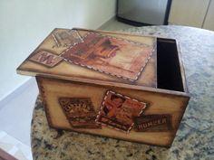 Caja pintada estilo vintage