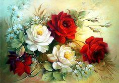 Douglas Frasquetti. Цветочная живопись. Обсуждение на LiveInternet - Российский Сервис Онлайн-Дневников