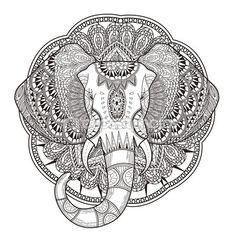 Elefante elegante — Vector de stock #86001120                                                                                                                                                                                 Más