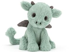 This Starry Eyed Dragon from Jellycat is super soft and luxurious. Jellycat soft toys are quirky, plush, sophisticated and irresistible! Dragon Pet, Cute Stuffed Animals, Dinosaur Stuffed Animal, Pokemon, Cute Dragons, Jellycat, Starry Eyed, Cute Plush, Stuffed Animal Patterns