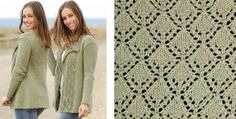 Garden party knitted lace jacket | The Knitting Space