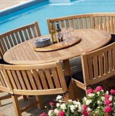 4 Living's range of Westminster garden furniture includes teak and woven tables, chairs, parasols and sun loungers. Round Garden Table, Round Outdoor Dining Table, Large Round Table, Garden Table And Chairs, Patio Table, Outdoor Tables, Picnic Tables, Outdoor Rooms, Outdoor Living