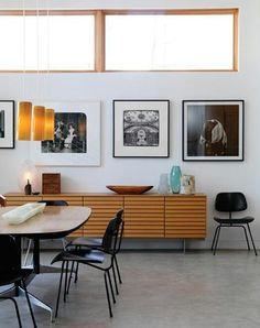 Eames chairs and great sideboard