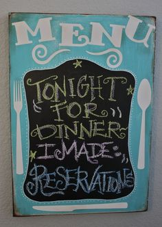 such a cute idea.  I dont love the color of the sign but it would totally do this in red!
