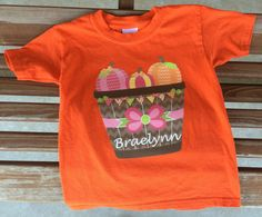 Personalized Fall Pumpkins T-shirt by Fun1Fancy on Etsy