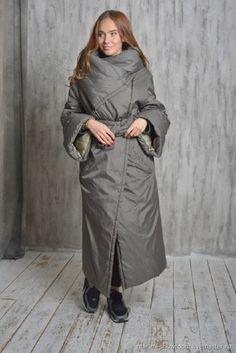 Верхняя одежда ручной работы. пальто-одеяло. MARIMI. Ярмарка Мастеров.  Хаки d8ab546d2adb7