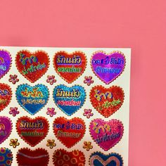 ハート タイ語 シール キラキラ 3枚セット ステッカー THAI HEART STICKER Perfect Gif, Retro Wallpaper, Stuff And Thangs, Aesthetic Vintage, Zine, Kitsch, Adult Coloring, Concept Art, Kawaii