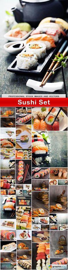 Sushi Set  53 UHQ JPEG  stock images