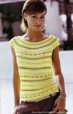 Bergère de France № 130 Summer Crochet Magazine - Renee - Lei Yu Xuan Knitting Stitches, Knitting Patterns, Summer Knitting, Crochet Magazine, Crochet Clothes, Knitwear, Knit Crochet, How To Wear, Knits