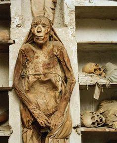 palermo, Italy Where the fake Egyptian mummies come from Bog Body, Mummified Body, Egyptian Mummies, Creepy Photos, Mystery Of History, Memento Mori, Ancient Art, Macabre, Dark Art