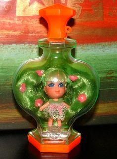 1967 Vintage Liddle Kiddles Kologne Perfume Kiddle APPLE BLOSSOM Doll - Original - 46 Year Old apl2