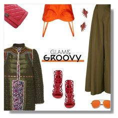 """""""Glam & Groovy."""" by peony-and-python ❤ liked on Polyvore featuring Alix of Bohemia, Alice + Olivia, Sergio Rossi, Chanel, ZeroUV and Oscar de la Renta"""