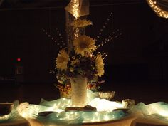 main centerpiece (before lighted)