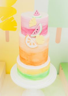 Popsicle Themed Birthday Cake