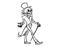 Dibujo de Señor esqueleto para Colorear