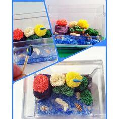 【monazooo】さんのInstagramをピンしています。 《珊瑚のあるアクアリウムを作成中^^調べてから作ったのにカラフルすぎた(笑)今度はアクアリウムの師匠、弟クリスの指導のもと、作ります#アクアリウム#ミニチュア#樹脂粘土#レジン#熱帯魚#珊瑚礁#ナンヨウハギ#ハンドメイド#ドールハウス#aquarium#miniature#resin clay#handmade#tropical fish#coral reef#dollhouse#》