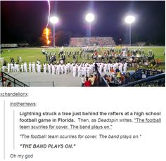 The band plays on!! I know exactly where that is, what 2 bands are standing there, and when that happened.
