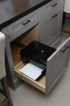 draw to conceal printer or shredder
