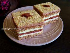 Raspberrybrunette: Orechová kocka  Ak máte radi orechové koláče, urči...