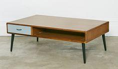 Mid century slate coffee table