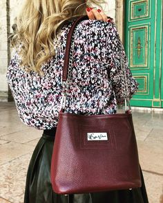 Burgundy leather crossbody bag Sophie by chance  sophiebychance.com  #hungary#handmade