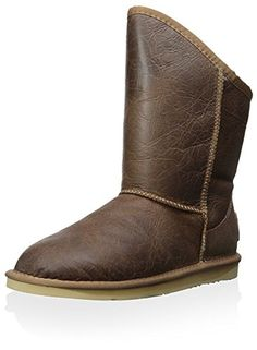 Australia Luxe Collective Womens Cosy Short Boot Distressed Brown 37 M EU6 M US *** Check this awesome product by going to the link at the image.
