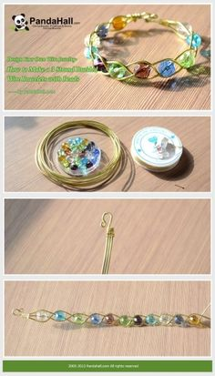 Design Your Own Wire Jewelry-How to Make a 3 Strand ... | easy crafts by wanting