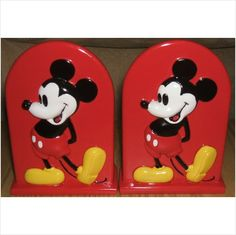 Discontinued Disney Mickey Mouse Toothbrush Holder Jay Franco & Sons Home Decor. Bring this classic character to your childs bathroom with the Disney Mickey Mouse Toothbrush Holder. The bright colors and classic Mickey design will certainly bring a smile to your childs face. This retired toothbrush holder is a great addition to other Mickey Mouse Bathroom Coordinates and Disney theme home decor.