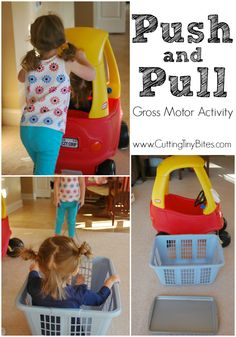 P is for Push and Pull Gross Motor Activity -  Part of Gross Motor Activities A to Z