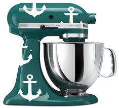 KitchenAid Mixer Nautical Anchor Vinyl Decals