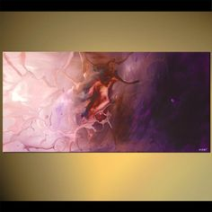 large lavender abstract painting soft art