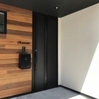 2階リビングの吹き抜けのある家 新築 西京区 O様邸 玄関ドア リクシル 玄関ドア おしゃれ 玄関ドア