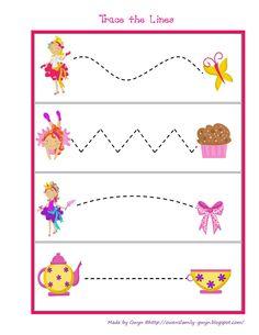 Preschool Printables: Fancy Girl Printable Preschool Writing, Preschool Printables, Kids Writing, Preschool Learning, Kindergarten Worksheets, Toddler Preschool, Preschool Activities, Motor Skills Activities, Princesses