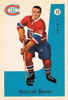 Marcel Bonin 1959-60 Parkhurst 12 Montreal Canadiens, Hockey Games, Ice Hockey, Wayne Gretzky, Marcel, Trading Cards, Nhl, Detroit, Nostalgia