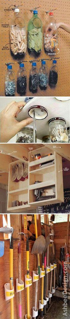 Clever Garage Organization and Storage Ideas #clutterstorage
