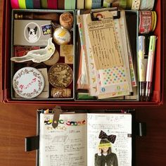 journaling and book craft 'kit' - love the simplicity and elegance- sure to get you inspired
