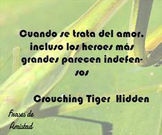 Frases de peliculas bonitas de Crouching Tiger, Hidden Dragon  (El Tigre y El Dragón)