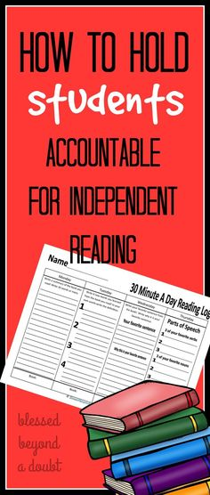 One of the most frustrating tasks as an ELAR teacher is holding your students accountable for independent reading. Take these 5 tips into your classroom. Be sure to grab the free independent reading log. Reading Homework, 6th Grade Reading, Reading Logs, Reading Workshop, Homework Ideas, Reading Centers, Reading Lessons, Teaching Reading, Guided Reading