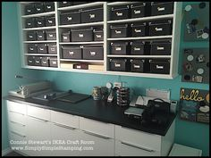 Connie Stewart's IKEA Craft Room - www.SimplySimpleStamping.com - see all the pictures on the August 17, 2015 blog post