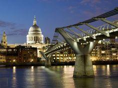 We walked across the Millenium Bridge in London