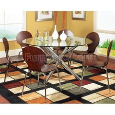 Lexie Glass Dining Room Set