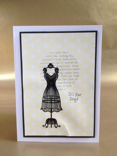Dress doll ladies birthday card