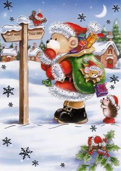 Celebrating Christmas all year long! Christmas Scenes, Noel Christmas, Christmas Clipart, Christmas Animals, Christmas Countdown, Christmas Printables, Christmas Pictures, Vintage Christmas, Christmas Crafts