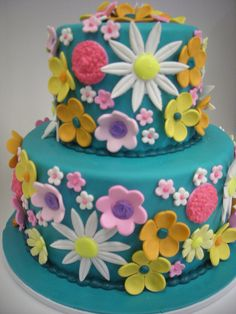 Flowers Galore Birthday Cake by A Sweet Design. (Best cake ever!)