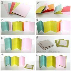 I like the various colors in the album PaperVine: Accordion Mini Album Tutorial (Echo Park) Mini Albums, Mini Photo Albums, Accordian Book, Mini Album Tutorial, Echo Park, Scrapbook Albums, Book Making, Bookbinding, Mini Books